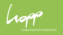 Logo Hopp Kommunikation + Marketing